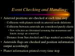 event checking and handling