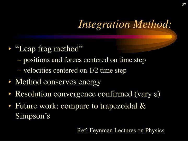 Integration Method: