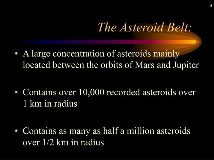 The Asteroid Belt: