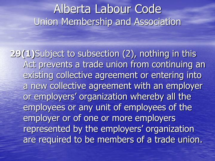 Alberta Labour Code