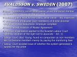evaldsson v sweden 2007