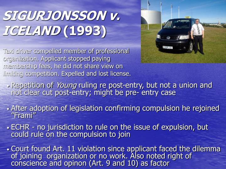 SIGURJONSSON v. ICELAND