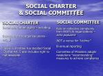 social charter social committee