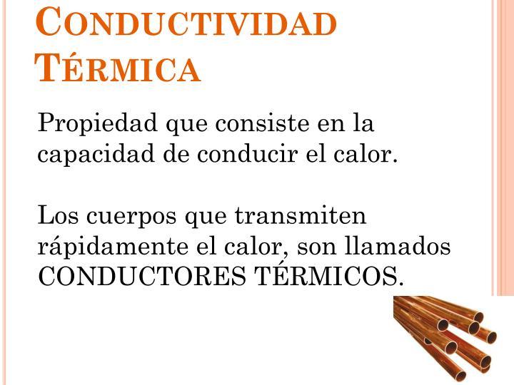 Conductividad Térmica
