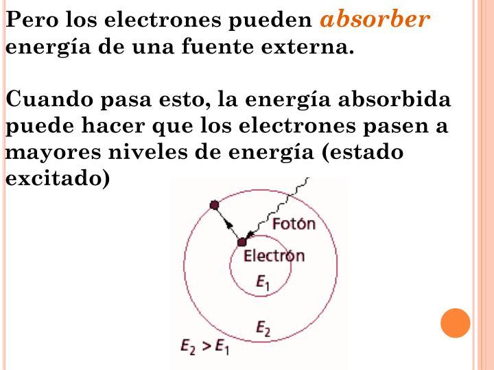 Pero los electrones pueden