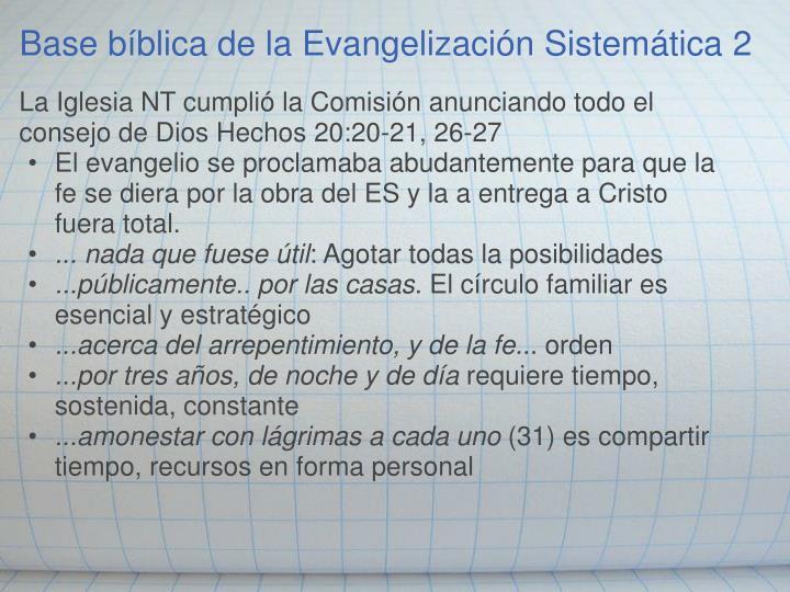Base bíblica de la Evangelización Sistemática 2
