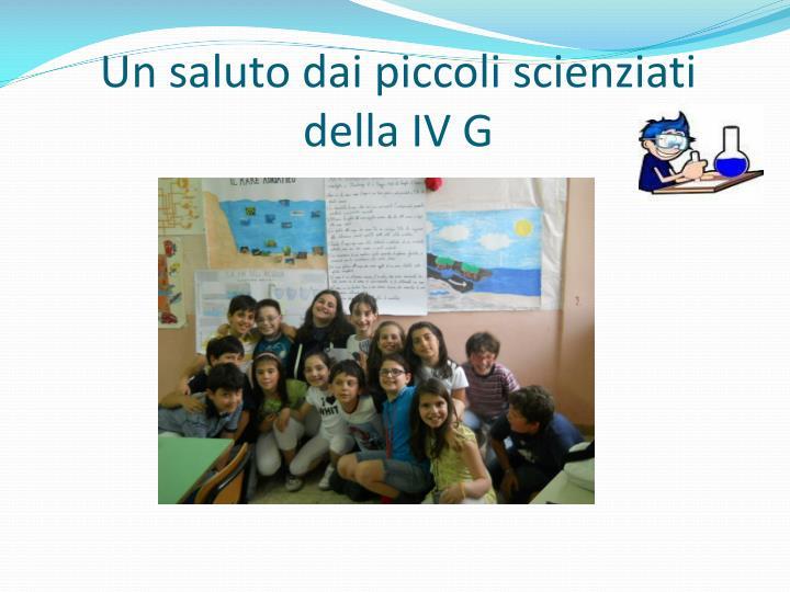 Un saluto dai piccoli scienziati