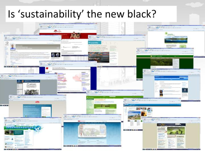 Is sustainability the new black