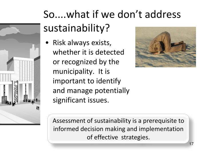 So....what if we don't address sustainability?