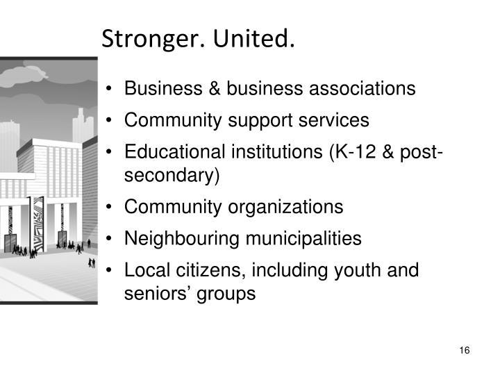 Stronger. United.