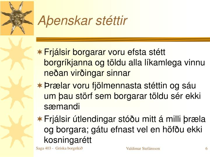 Aþenskar stéttir