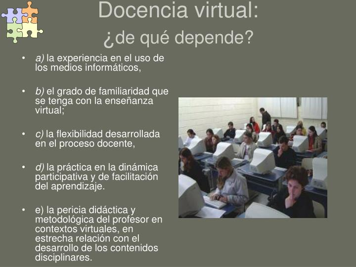 Docencia virtual: