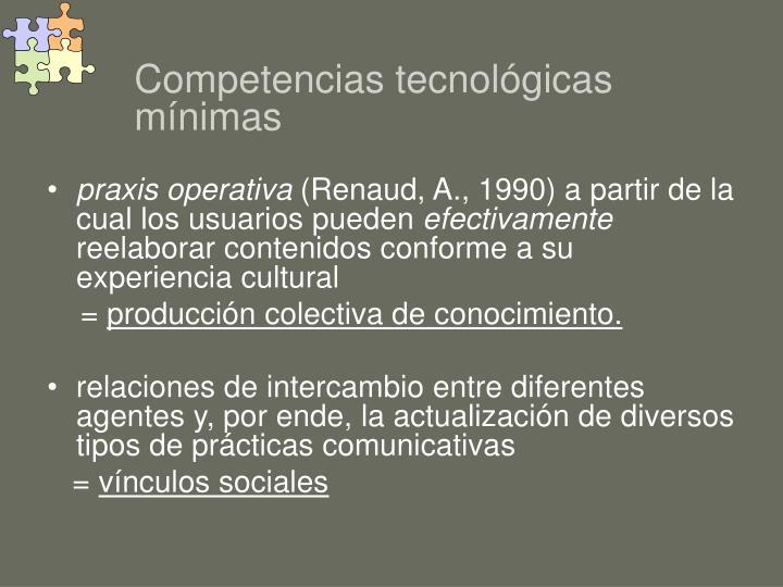 Competencias tecnológicas mínimas