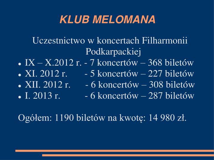KLUB MELOMANA