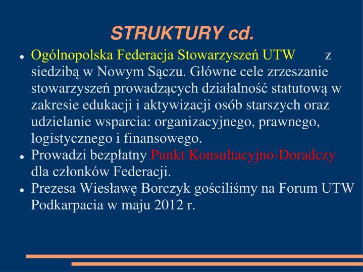 STRUKTURY cd.