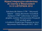 wyjazd integracyjno szkoleniowy do czarnej w bieszczadach 14 15 listopada 2012