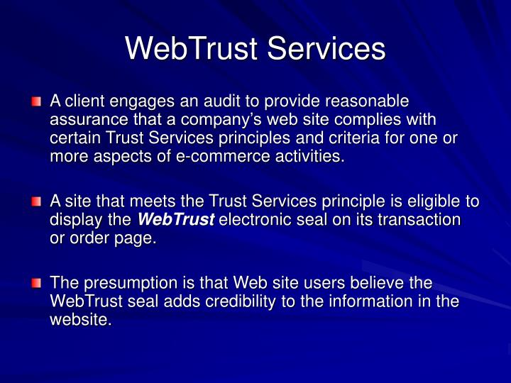 WebTrust Services