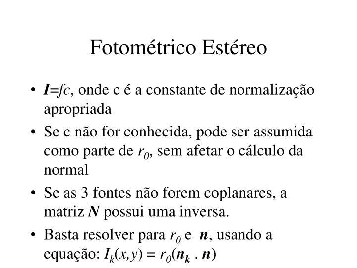 Fotométrico Estéreo