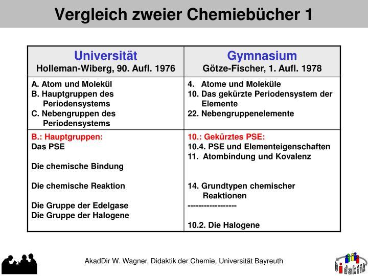 Vergleich zweier Chemiebücher 1