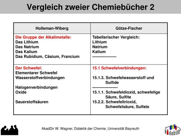 Vergleich zweier Chemiebücher 2