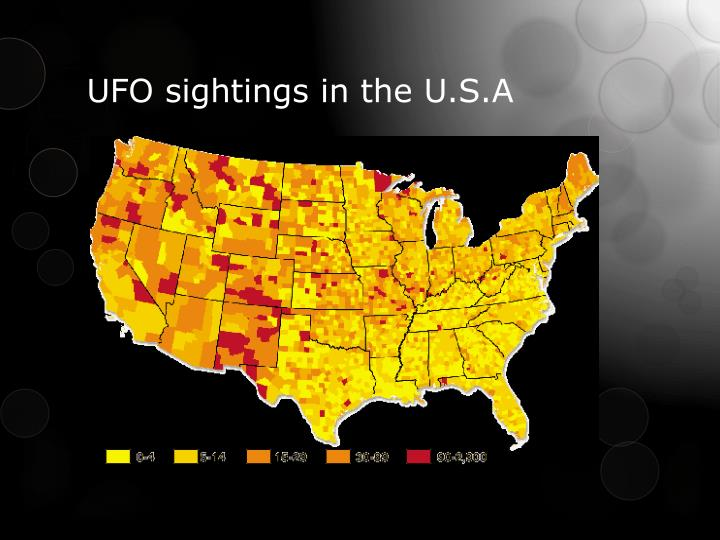 UFO sightings in the U.S.A