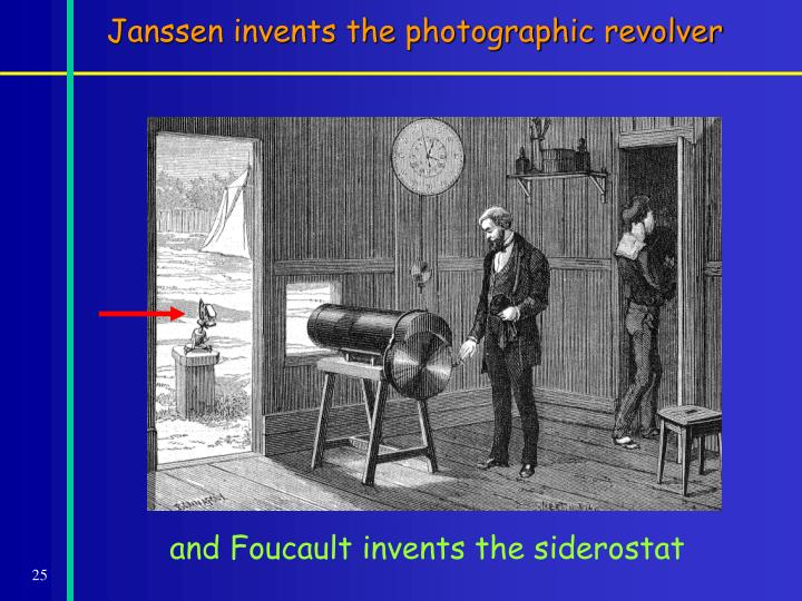 Janssen invents the photographic revolver