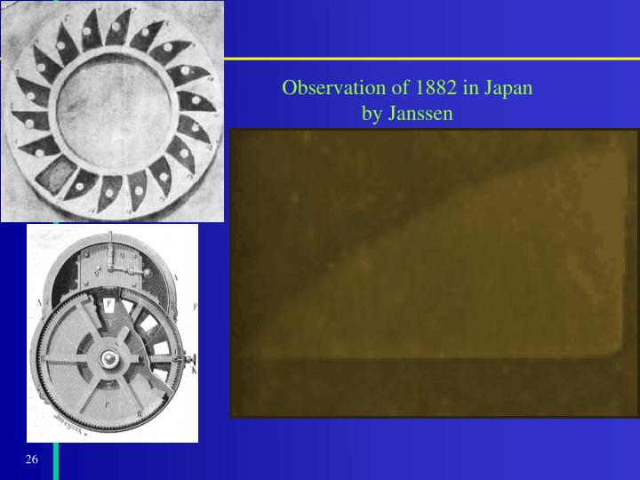 Observation of 1882 in Japan