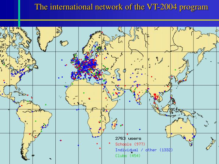 The international network of the VT-2004 program
