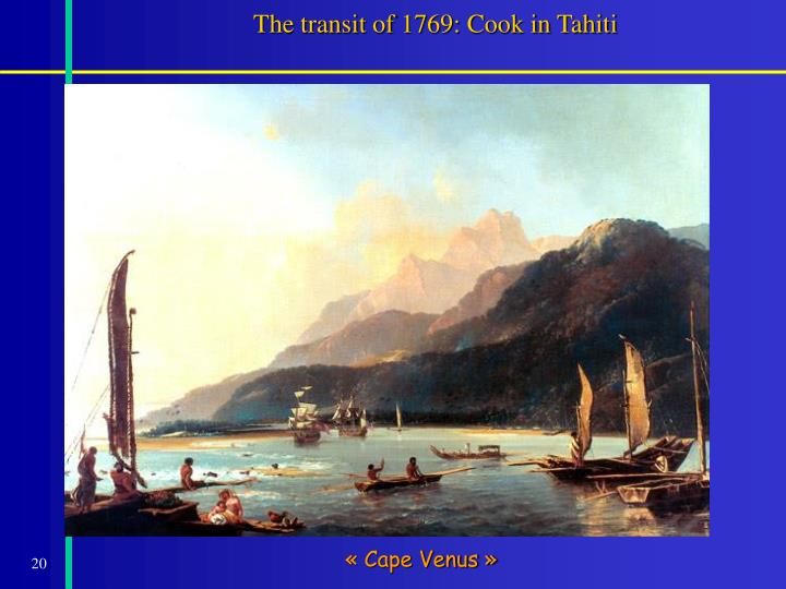 The transit of 1769: Cook in Tahiti