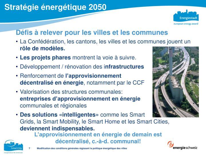 Stratégie énergétique 2050