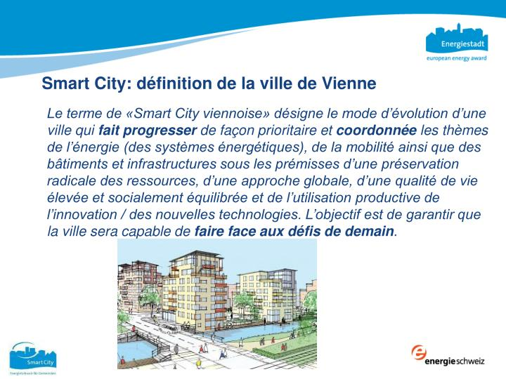 Smart City: définition de la ville de Vienne