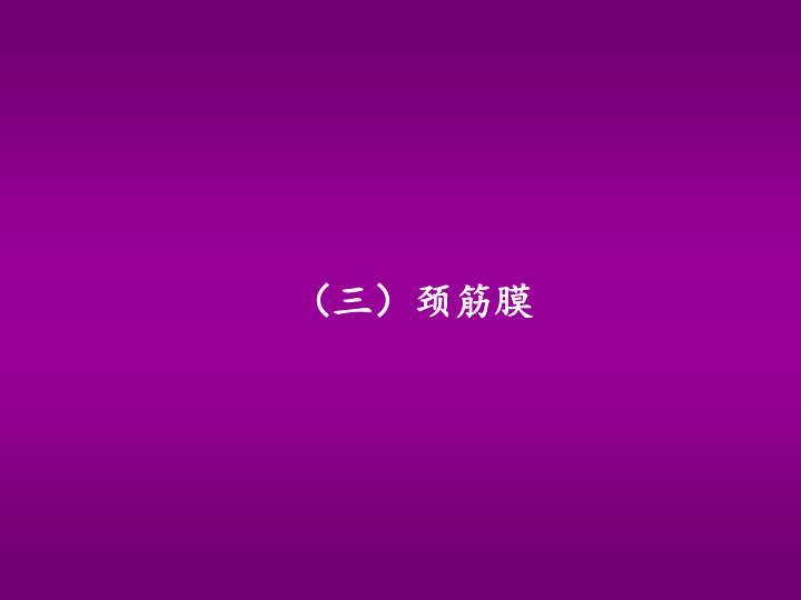 (三)颈筋膜