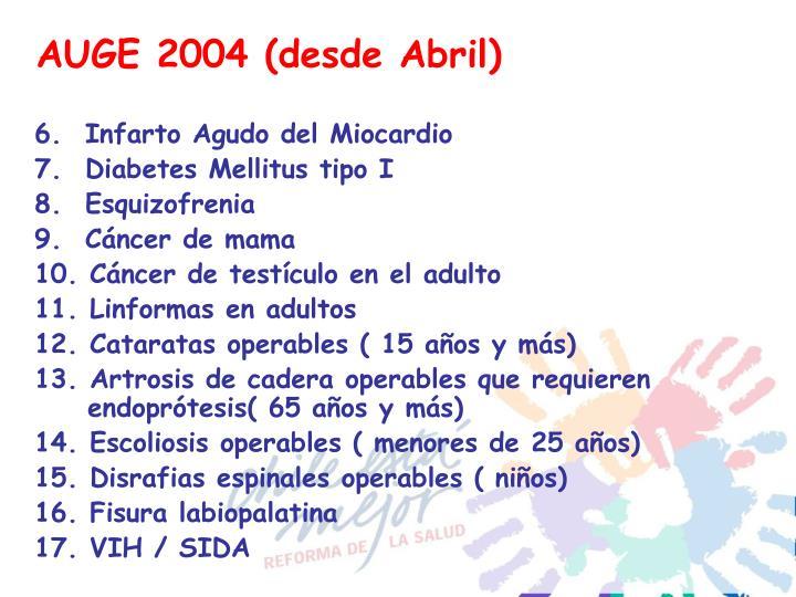 AUGE 2004 (desde Abril)