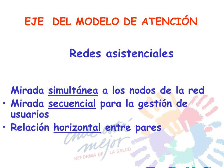 EJE  DEL MODELO DE ATENCIÓN