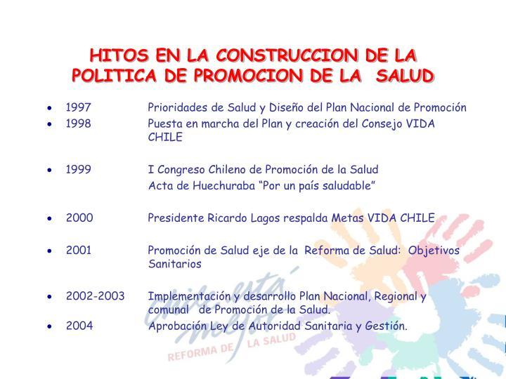 HITOS EN LA CONSTRUCCION DE LA