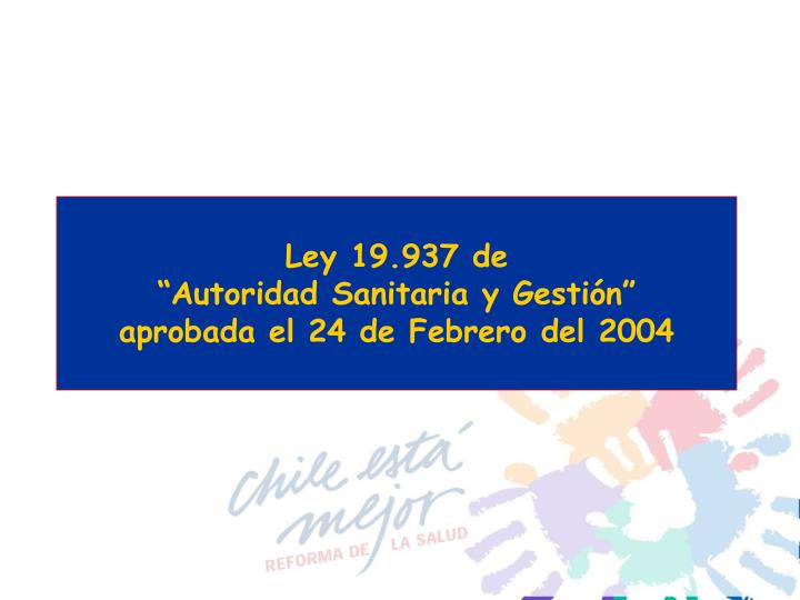 Ley 19.937 de