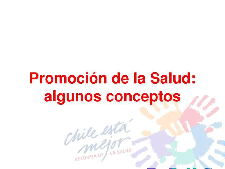 Promoción de la Salud: