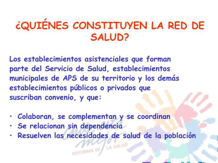 ¿QUIÉNES CONSTITUYEN LA RED DE SALUD?