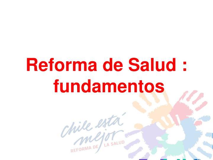 Reforma de Salud :