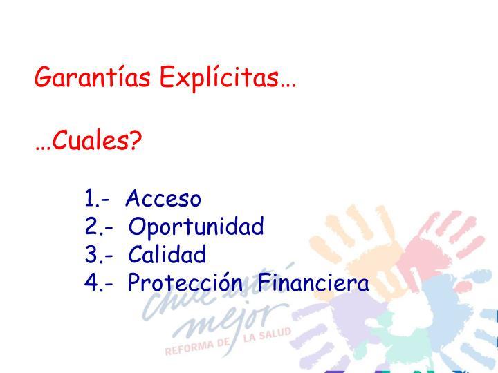 Garantías Explícitas…