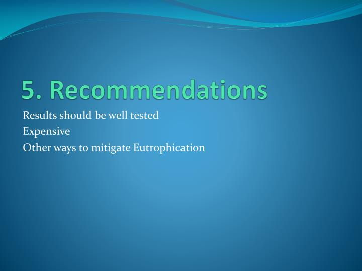 5. Recommendations