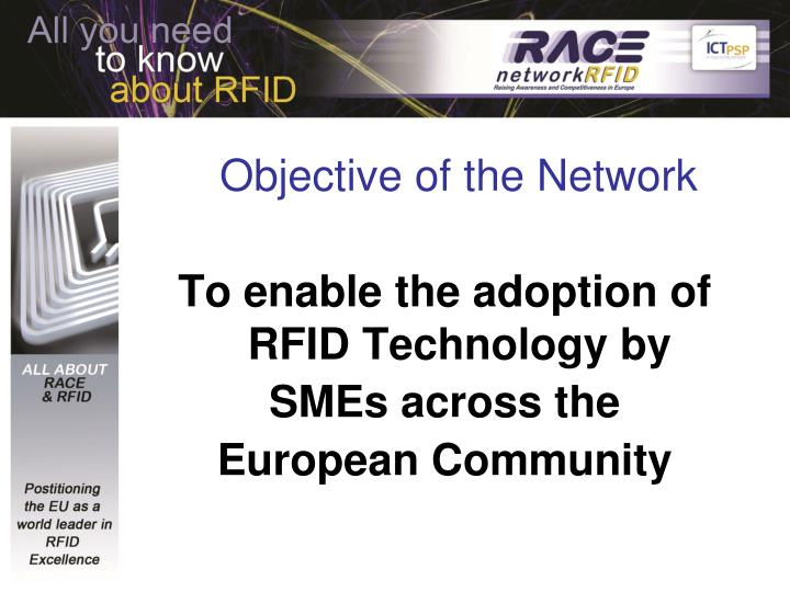 Objective of the network