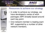 resources to achieve our strategy
