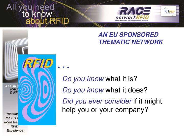 AN EU SPONSORED                                      THEMATIC NETWORK