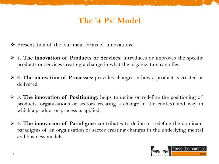 The '4 Ps' Model