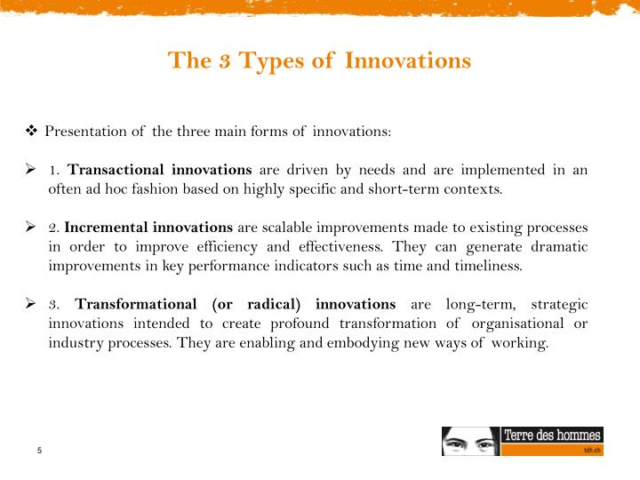 The 3 Types of Innovations