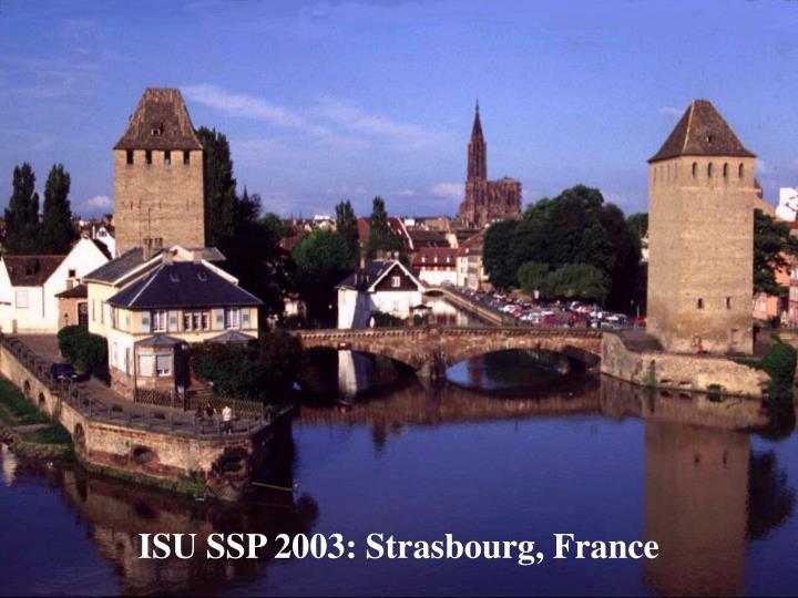 ISU SSP 2003: Strasbourg, France