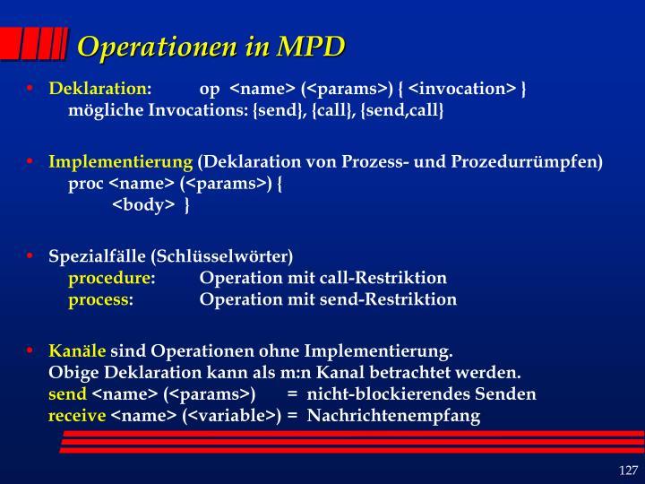 Operationen in MPD