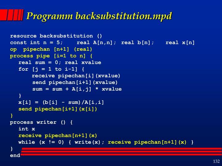 Programm backsubstitution.mpd