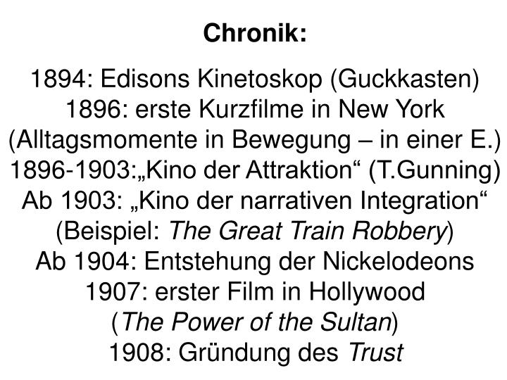 Chronik:
